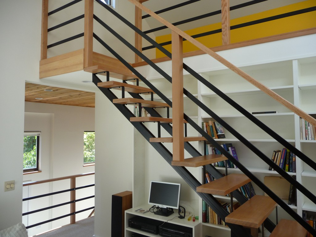 Exposed Wood Staircase