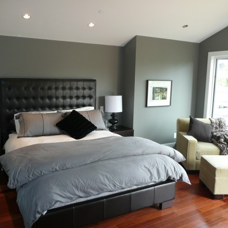 Hardwood Floored Bedroom