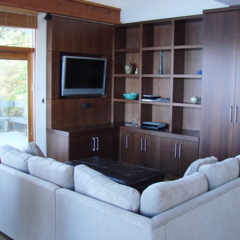 Hardwood Wall Unit