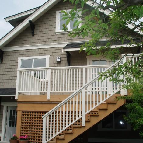 Staircase on Backyard Porch