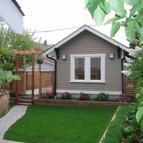 Backyard Garden & Garage