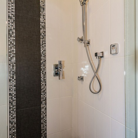 Custom Tiled Shower Close-up