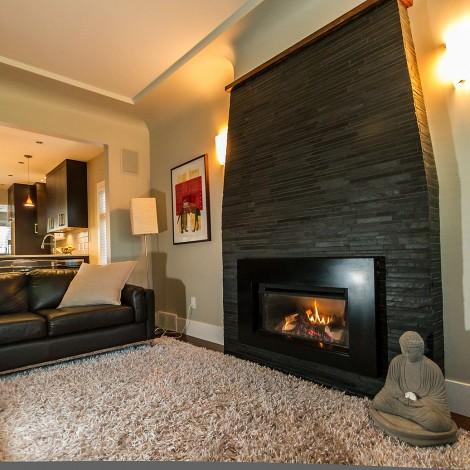 Flat Brick Fireplace