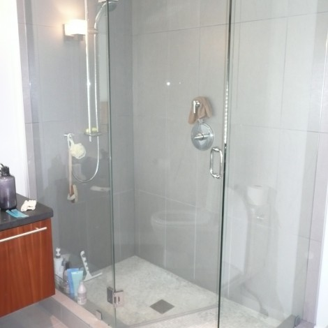 Glass Rainfall Shower