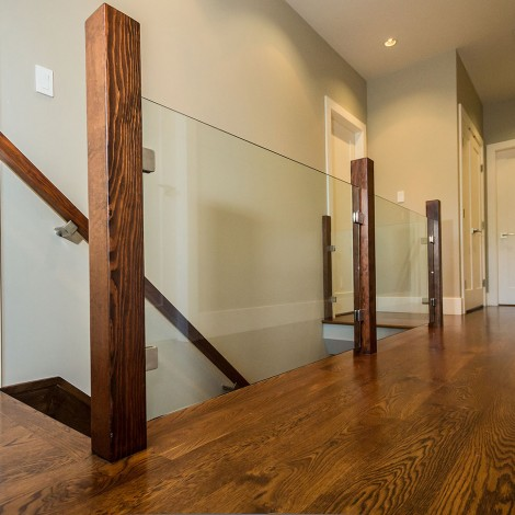 Hardwood Hallway with Glass