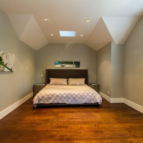 Hardwood Floor with Skylight
