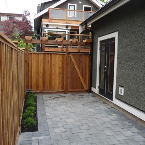 Interlocked Brick Walkway