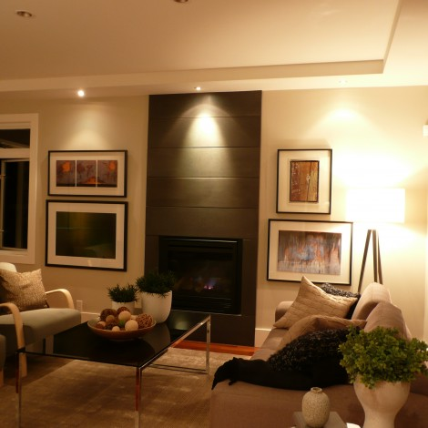 Living Room with Lighting Fixtures