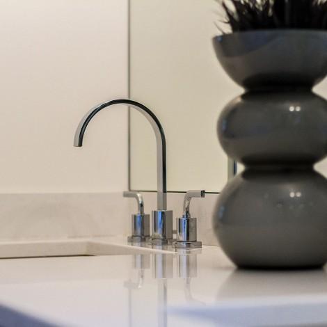 Granite Vanity with Modern Faucet