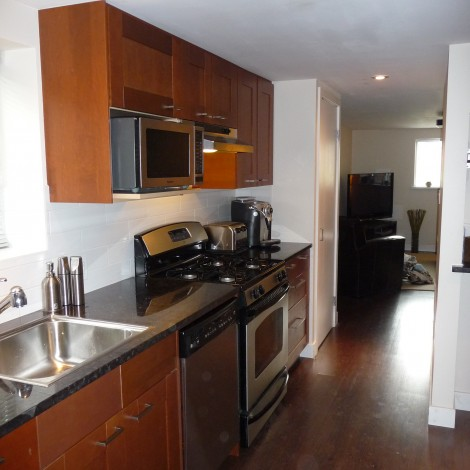 Wood Cabinets with Stainless Steel