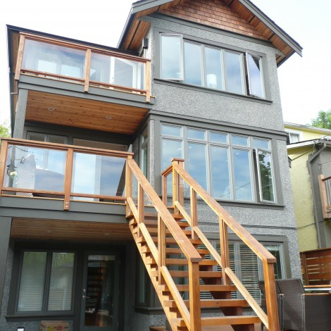 Wood Exterior Staircase Walk-up